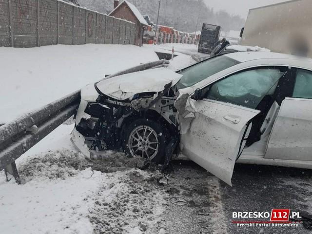 Wypadek na DK75 w Tymowej, 14.01.2021