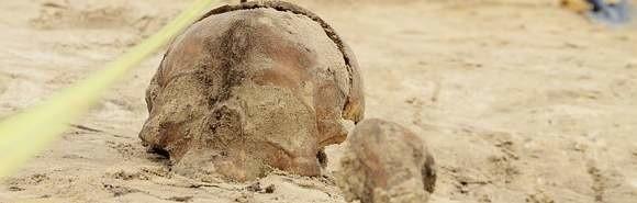 Ludzkie szczątki na Siennym Rynku.