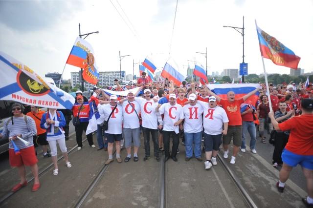 Rosyjscy kibice czekają na przyjazd piłkarskich fanów z całego świata. Mundial ma przebiegać w przyjaznej atmosferze.