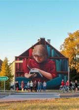 Lubliniec: mural autorstwa Damiana Malczewskiego już gotowy. Zdobi elewację budynku przy ul. Wyszyńskiego 3 [ZDJĘCIA]