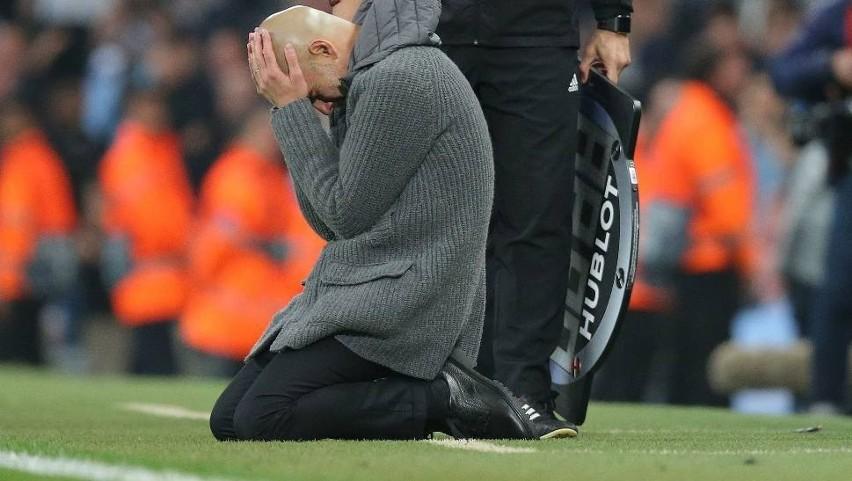 Pep Guardiola nie mógł uwierzyć w rozstrzygnięcie w Lidze Mistrzów.