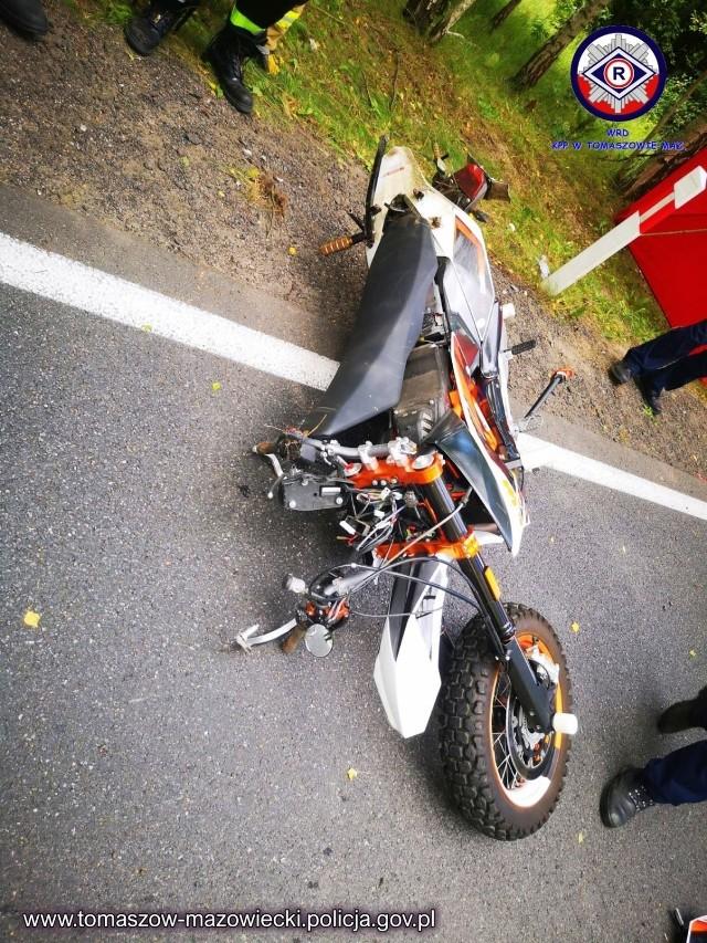 Śmiertelny wypadek motocyklisty z Tomaszowa.