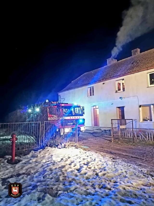 Pożar sadzy w miejscowości Porost