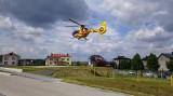 Lądowisko w Łapach już jest otwarte! Zobacz pierwszy lot ratunkowy do SOR-u (ZDJĘCIA, FILM)