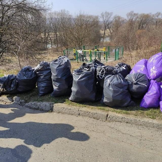 W sobotę społecznicy sprzątali brzegi Sanu w Przemyślu. Jak długo będą one czyste?
