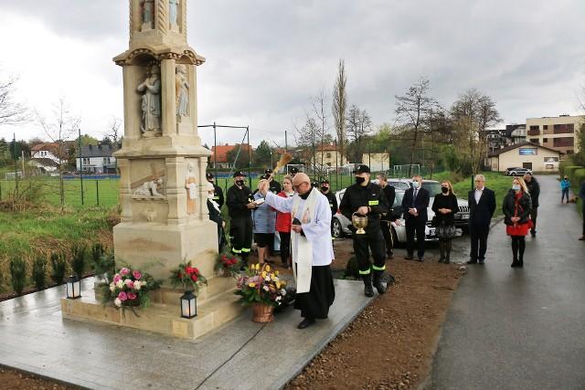 Mająca ponad 150 lat kapliczka św. Floriana na wielickim osiedlu Krzyszkowice odzyskała dawny blask. Uroczyste poświęcenie odnowionego zabytku odbyło się w ostatnich dniach