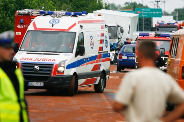 Wypadek na drodze krajowej nr 8 pod Kłodzkiem. Zdjęcie ilustracyjne