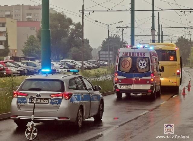 W sobotę - 20 czerwca - na ul. Jaśkowickiej w Tychach doszło do potrącenia pieszego przez autobus komunikacji miejskiej.