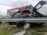 Wypadek pod Białobrzegami. Jedna osoba ranna. Uwaga! Były utrudnienia na trasie S-7