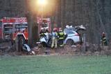 Wypadek w Ligocie Prószkowskiej. Na drodze wojewódzkiej 414 samochód uderzył w drzewo. Zginęły trzy osoby, w tym niemowlę