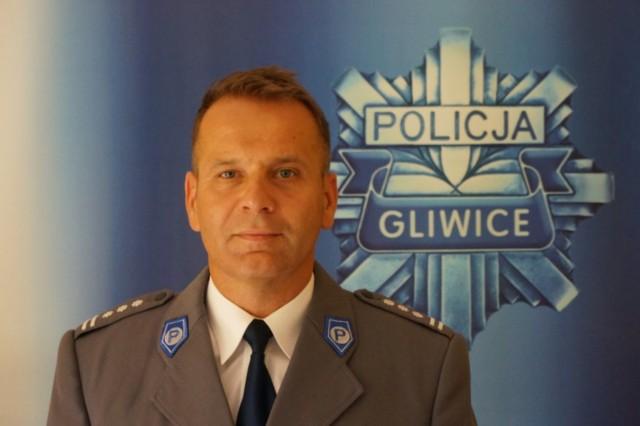 Komendant miejski policji w Gliwicach insp. Dariusz Augustyniak.