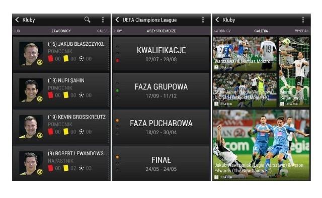 HTC FootballFeedAplikacja HTC FootballFeed