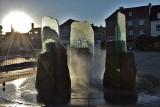 Inowrocław. Fontanna na Rynku o zachodzie słońca. Zobaczcie jak pięknie wygląda. Właśnie kończy się jej remont. Zdjęcia