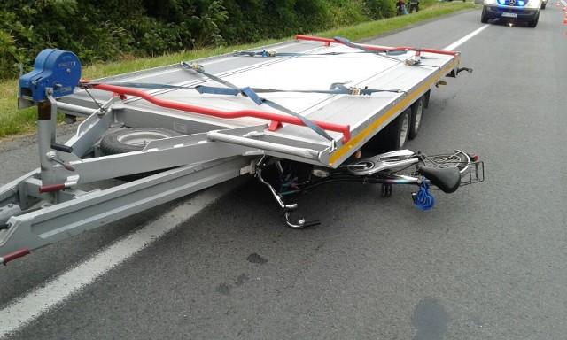 Wypadek na DK 39 w Małujowicach.