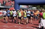 Inowrocław - Orange Run 2019. Migawki ze startu i z trasy biegu na 5 i 10 kilometrów