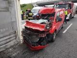 Uwaga kierowcy! Wypadek w Lubiczu na autostradzie A1 ZDJĘCIA