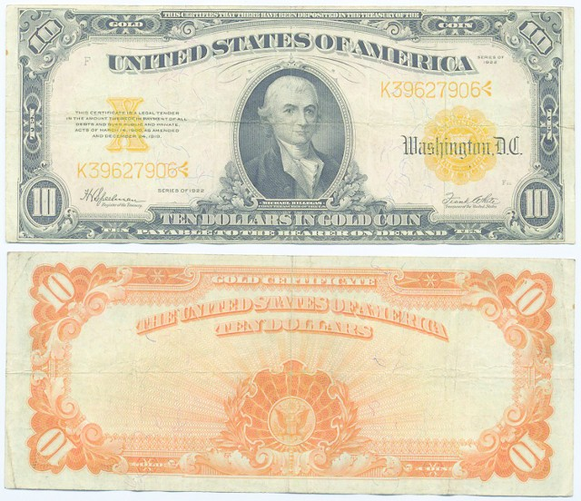 10-dolarówka z 1922r.