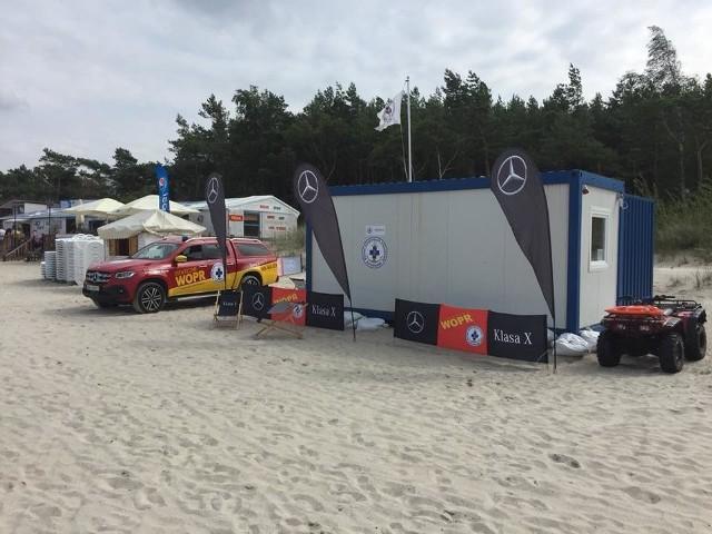 Akcja ratunkowa na plaży w Łebie [19.08.2018]