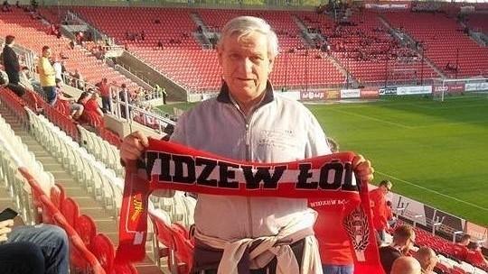 Jerzy Libertowski na stadionie ukochanego klubu
