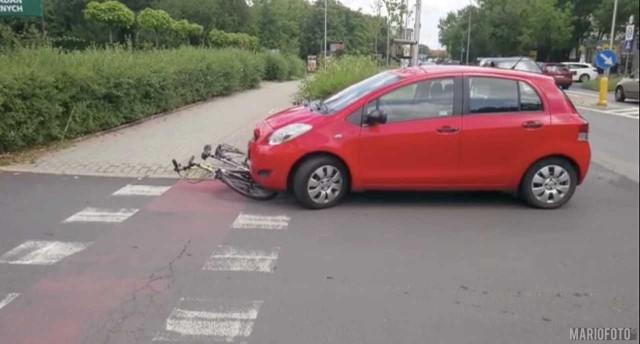 Potrącenie rowerzystki w Opolu.
