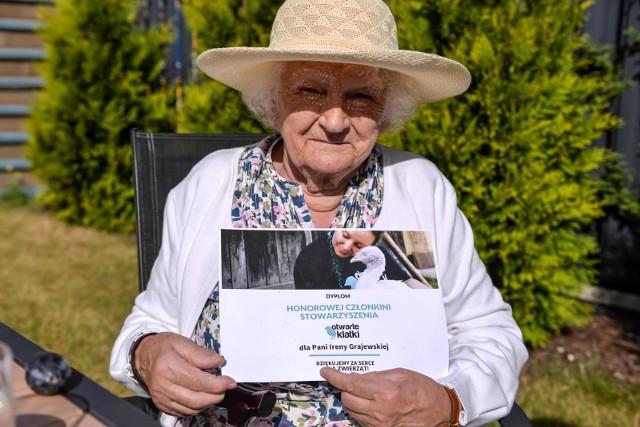 Irena Gajewska, 93-letnia wegetarianka, rezydentka Domu Seniora Harmonia