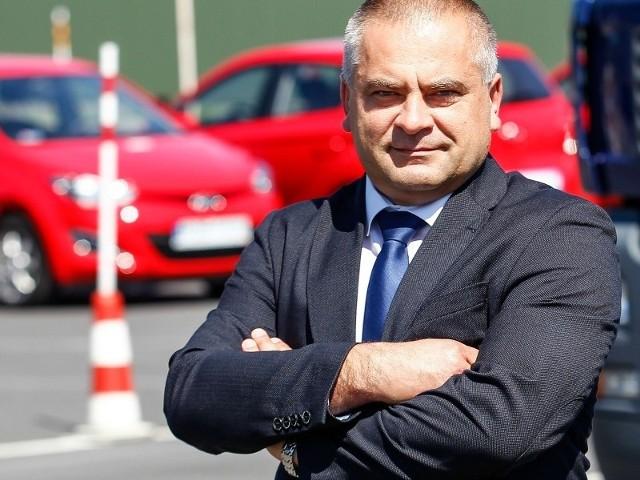 Robert Drozd, egzaminator nadzorujący WORD Rzeszów.