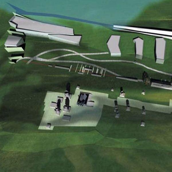 Wizja architektoniczna nowego Muzeum Wojska na wzgórzu przy osiedlu Wysoki Stoczek