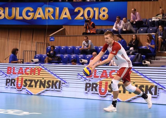Mateusz Bieniek w meczu z Francją zdobył 11 punktów.