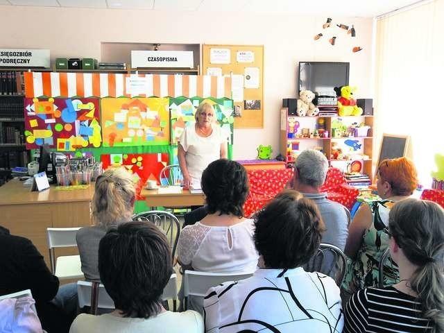 Teresa Grochulska kilka dni temu prowadziła spotkanie otwierające realizację projektu Fot.: Nadesłana