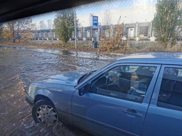 Problemy z przejazdem na ulicy Struga  i Pomorskiej w Szczecinie