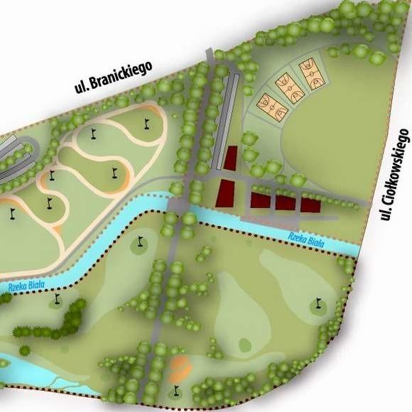 Park rozrywki między ulicami Miłosza, Branickiego i Ciołkowskiego już w maju 2008 roku chciała budować firma Golf Park. Golfstok ograniczy się do pola golfowego