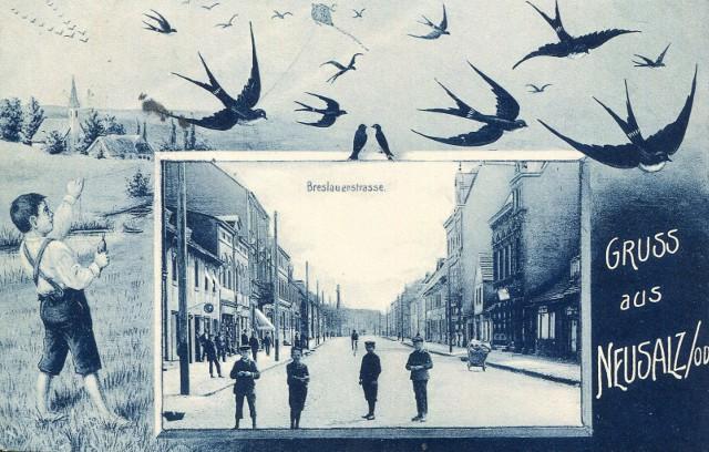 Ulica Wrocławska w Nowej Soli sprzed pierwszej wojny światowej. Zobaczcie te pocztówki. To najstarsza ulica w mieście.