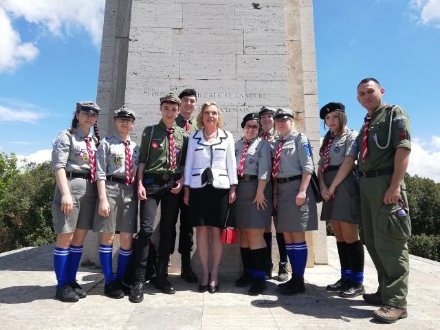 W Harcerskiej Wyprawie Pamięci, której celem było Monte Cassino, uczestniczyło 8 harcerzy i komendant hufca w Golubiu-Dobrzyniu Szymon Wiśniewski.
