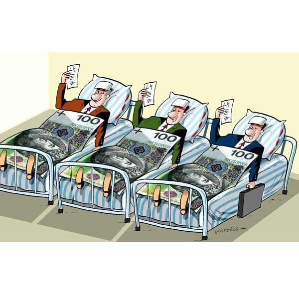 Choroby samorządowców stały się sposobem na wyciągnięcie z kieszeni podatnika niezłej pensji.