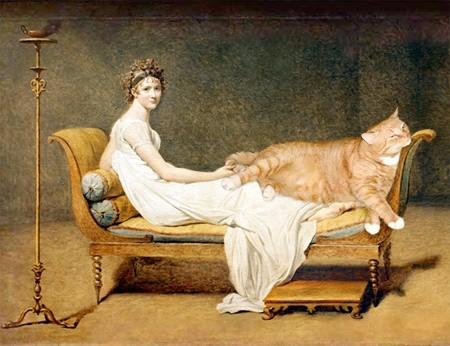 Jacques-Louis Davida - Portret pani Récamier