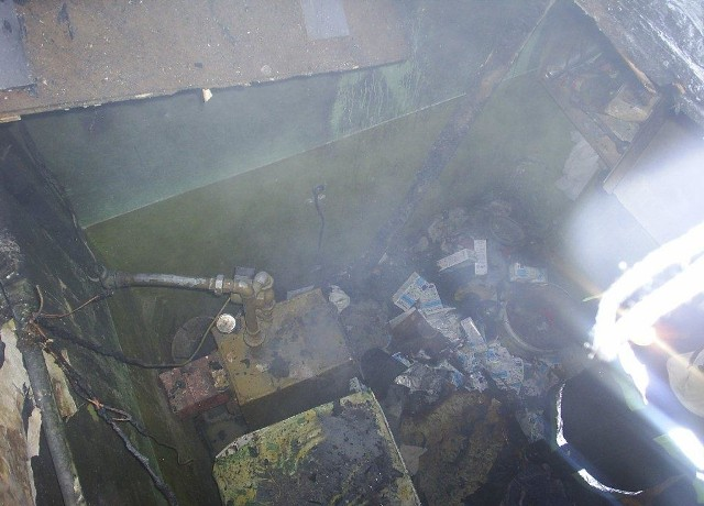 Tak wyglądało jedno z pomieszczeń po pożarze