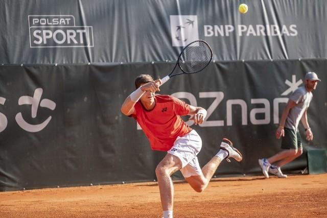 Hubert Hurkacz pokonał w drugiej rundzie Poznań Open Niemca Daniela Altmeiera.Zobacz kolejne zdjęcie. --->