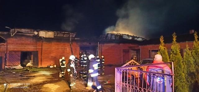 W jednym z gospodarstw w Lesie Dębowym doszło do pożaru