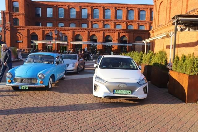 W Manufakturze można było podziwiać wystawę samochodów elektrycznych
