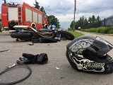 W Przeworsku 21-letni motocyklista bez prawa jazdy zderzył się z samochodem [ZDJĘCIA]