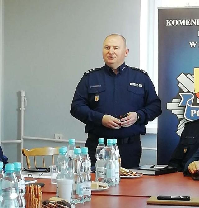 Grzegorz Radzikowski, komendant powiatowy policji w Łowiczu