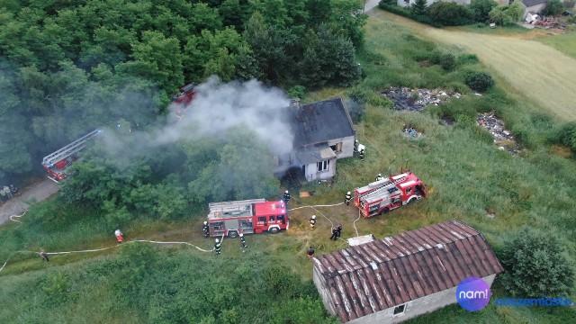Pożar budynku w powiecie włocławskim