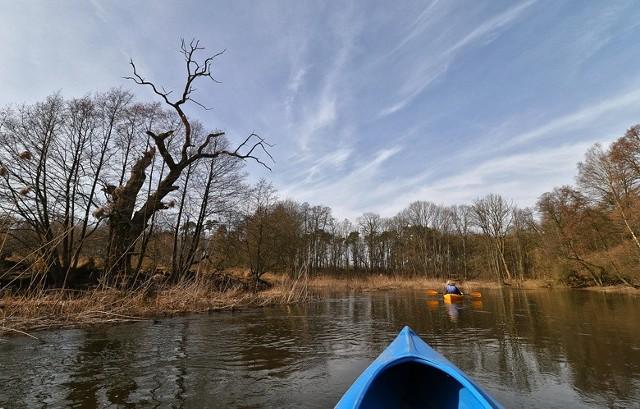 Spływ Wełną w pierwszą słoneczną sobotę marca