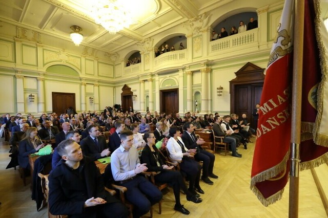 Ślubowanie radnych dzielnic w siedzibie Rady Miasta Gdańska, kwiecień 2019