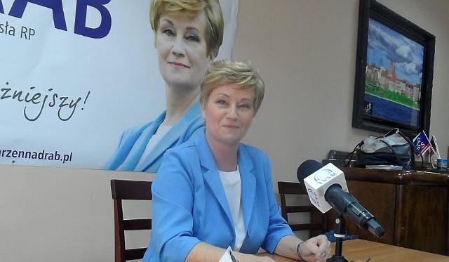 Marzenna Drab (prezes zarządu PiS w okręgu toruńsko-włocławskim) komentuje sondażowe wyniki pierwszej tury wyborów prezydenckich.