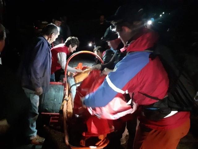 Akcja ratownicza GOPR w Istebnej
