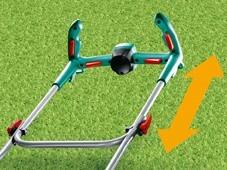 Uchwyt Ergo-FlexKosiarki z uchwytem Ergo-Flex: dla łatwego koszenia trawy