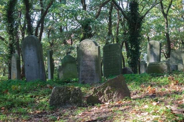 Na cmentarzu zachowało się około 250 płyt nagrobnych.