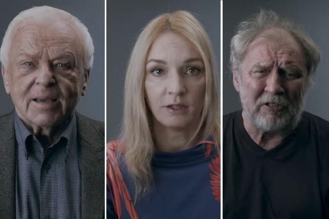 Aktorzy wykonali piosenkę Wojciecha Młynarskiego zachęcając do pójścia na wybory i pożegnania smutnego miasteczka