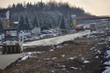 Na budowie trasy S-7 Radom-Szydłowiec śnieg wstrzymał część robót